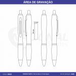 CANETA DE METAL C/ CLIPE VAZADO CM0022