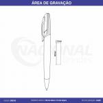 CANETA DE METAL C/ DETALHE PRETO CM0105