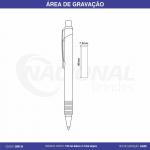 CANETA DE ALUMÍNIO C/ DETALHE DE 5 ANÉIS CM0134