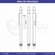 CANETA DE METAL C/ MARCA TEXTO E CLIP ARREDONDADO CM1500