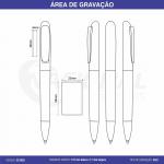 CANETA SEMI-METAL C/ CLIP ARREDONDADO CS1035