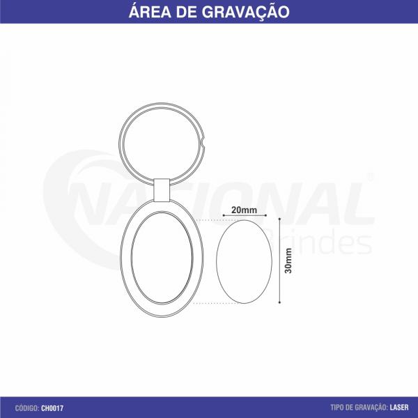 CHAVEIRO DE METAL OVAL CH0017