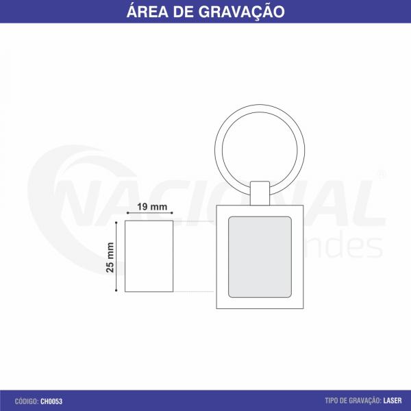 CHAVEIRO DE METAL QUADRADO CH0053