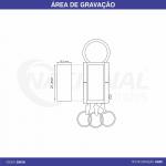 CHAVEIRO DE METAL COM 3 ARGOLAS CH0156