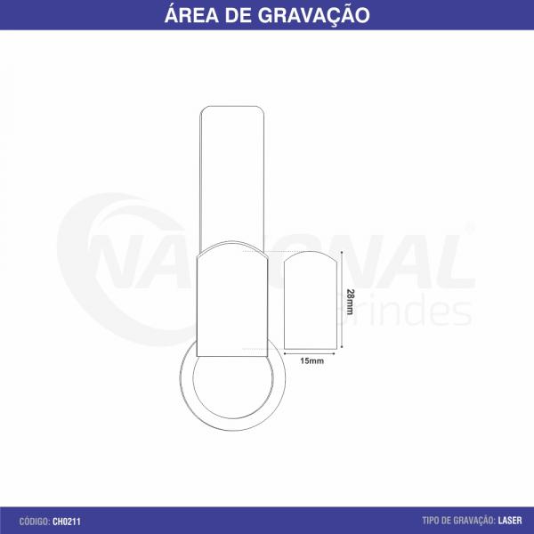 CHAVEIRO DE METAL COM ALÇA EM MATERIAL SINTÉTICO CH0211