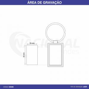 CHAVEIRO DE METAL RETANGULAR CH0409