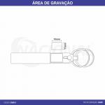 CHAVEIRO DE METAL COM 2 ARGOLAS CH0510