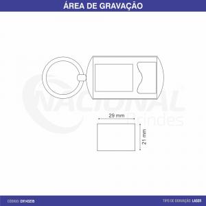 CHAVEIRO DE METAL EM AÇO ESCOVADO CH143235