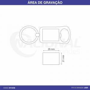 CHAVEIRO DE METAL COM ABRIDOR E AÇO ESCOVADO CH143236