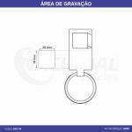 CHAVEIRO DE METAL FOSCO CH2114A