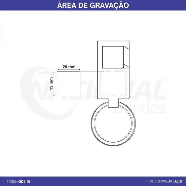 CHAVEIRO DE METAL BRILHANTE CH2114B