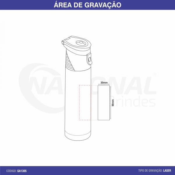 GARRAFA TÉRMICA 500ML COM ALÇA GA1305
