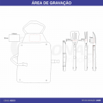 KIT CHURRASCO 4 PEÇAS COM AVENTAL KC0131