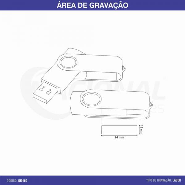 PEN DRIVE GIRATÓRIO DI0160