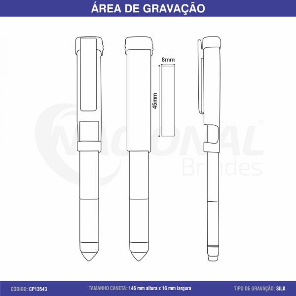 CANETA SEMI-METAL TOUCH C/ FERRAMENTAS CP13543