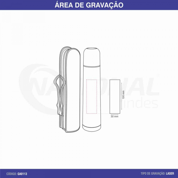 GARRAFA TÉRMICA 500ML COM TAMPA ROSQUEÁVEL GA0113