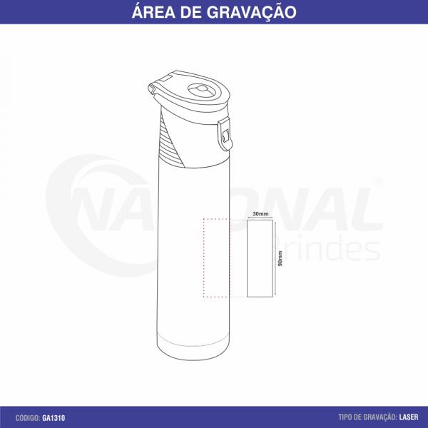 GARRAFA TÉRMICA 1L COM ALÇA GA1310