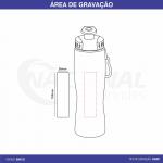 SQUEEZE DE INOX COM MOSQUETÃO 750ML GA0132