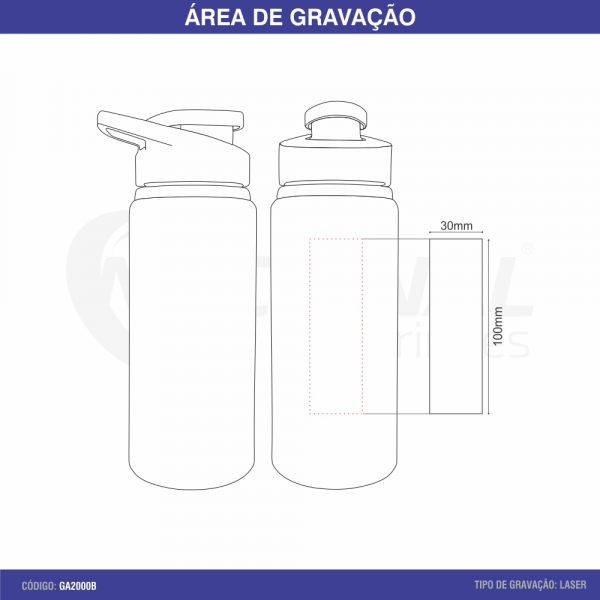 SQUEEZE DE ALUMINIO 650ML GA5100
