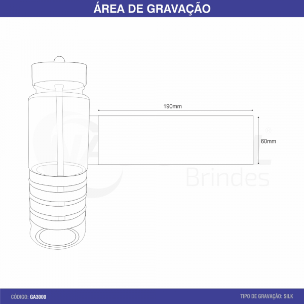 SQUEEZE DE PLÁSTICO 700ML GA3000