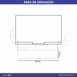 PORTA CARTÃO DE ALUMÍNIO PC0071