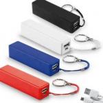 bateria portatil com chaveiro