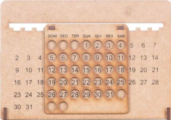 calendário permanente em mdf